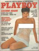 PLAYBOY MAGAZINE BRAZIL # 186 - LUCIENE ADAMI  -  JAN 1991 HOT!!