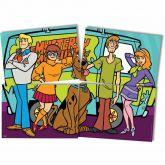 Painel 4 laminas  Scooby Doo - Festcolor