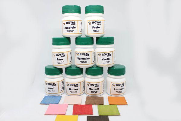 Kit Tintas Colorida para Couro - 9 unidades