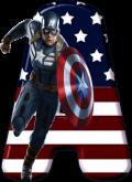 Alfabeto - Capitão America 6 - PNG