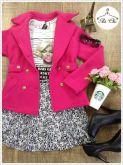 Casaco de lã Pink