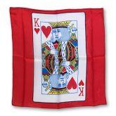 Lenço de seda (cartas branca e dama de copas), 40cmx40cm #488