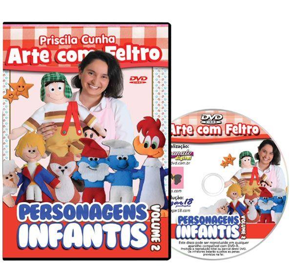 DVD - Personagens em Feltro Volume 2