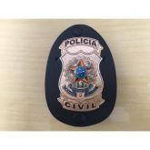 DISTINTIVO POLÍCIA CIVIL DOURADO
