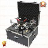 Case em Fiberglass para Drone DJI F550 e acessórios Com Carrinho
