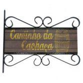 Flange Decorativa de Metal 28,5 x 32,5 cm - Cantinho da Cachaça