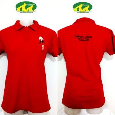 2e5e73a3eeaff Camisa Polo Feminina Bordada Tecido Piquet.ORÇAMENTO P EMAIL - Casa ...