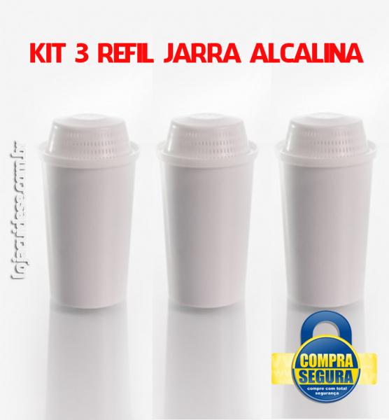 KIT COM 3 ELEMENTOS FILTRANTES (refil da jarra alcalinizadora)