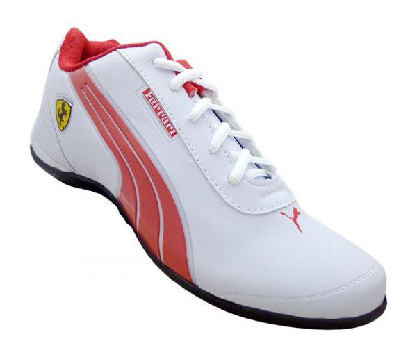 d8fd1702bfb92 Tênis Puma Ferrari Drift Branco e Vermelho MOD:12611 - Loja de ...