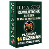 Planilha DUPLA SENA, aposte com 14 dezenas em 180 jogos 5 ou 6 pontos 100%.