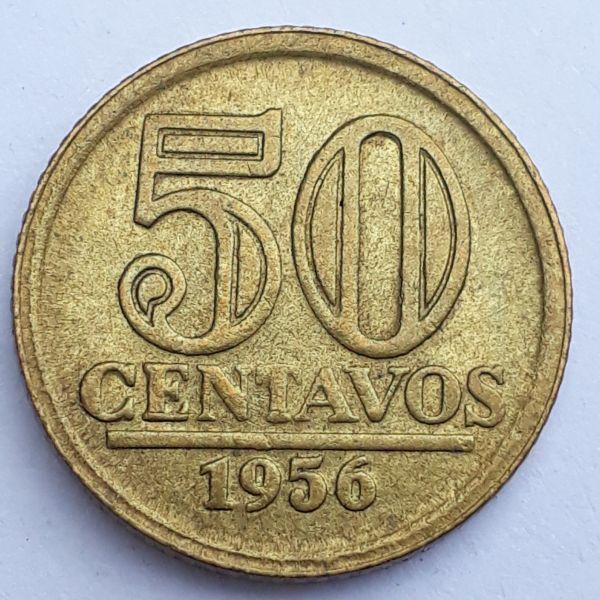 50 Centavos 1956 Dutra SOB/FC