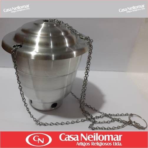 004011 - Turíbulo de Alumínio Médio