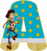 Alfabeto - Toy Story 1 - PNG