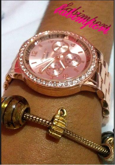 0a9690f03cb Relógio Rose com Strass Aeropostale - fabimport