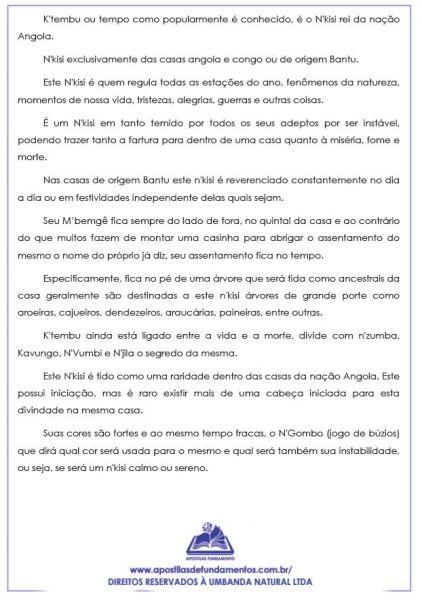 APOSTILA ASSENTAMENTO DE K'TEMBU (O REI DA ANGOLA)