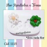 Flor Rendinha e Trevo Cód 1118