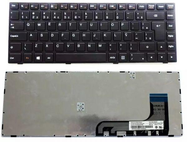 INDISPONÍVEL Teclado Lenovo Ideapad 100 14iby Preto Br *ç*
