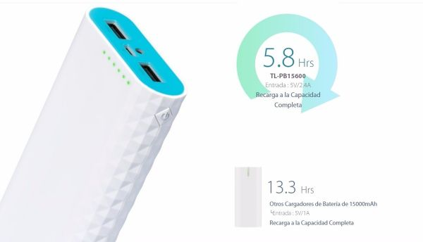 Tp-link Power Bank Tl-pb15600 02-usb