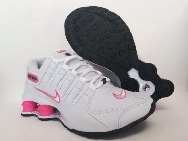 e23cbed530874 Tênis Nike Shox Junior NZ Branco c/ Rosa - Outlet Ser Chic