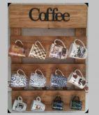 suporte de parede para xícaras café