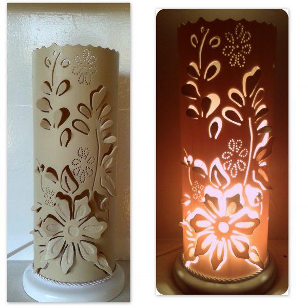 Luminaria Em Pvc Flores 3d005d Traco De Luz Luminarias E