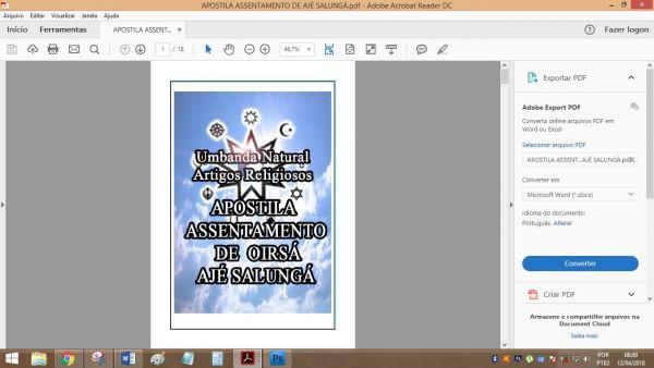 APOSTILA ASSENTAMENTO DE AJÉ SALUNGÁ