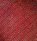 Lonita fundo Prata com formas T vermelhas 1,0mx9cm