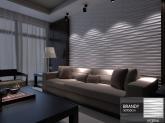 Revestimento Placas Decorativas 3D Board - Fibra de Bambu Original - Brandy