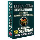 Planilha DUPLA SENA, aposte com 12 dezenas em 68 jogos 5 ou 6 pontos 100%.