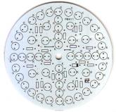 Placa Circular - 56 LEDs