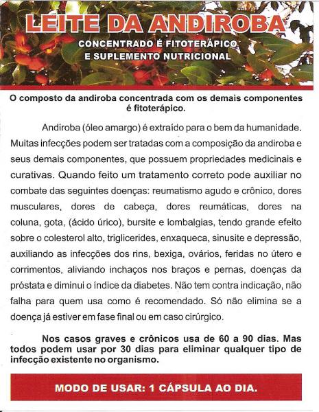 1 LEITE DA ANDIROBA - 30 Cápsulas