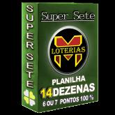 SUPER SETE COM 14 DEZENAS por METADE DO PREÇO