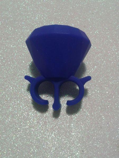 Anel Suporte azul para esmalte