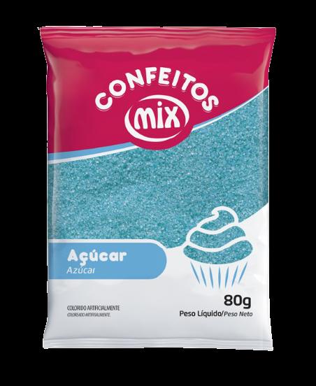 Açúcar colorido Azul Mix 80g 1un