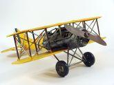 Miniatura Avião De Guerra Retro Em Lata - 36,50 cm
