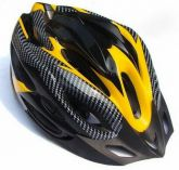 Capacete para bicicleta amarelo