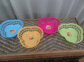 Cestinhas/fruteiras De Plástico - Kit Com 4 Unidades
