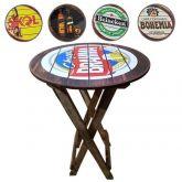 Mesa para bar bistrô com dois bancos