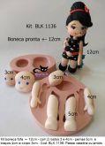 Kit boneca fofa +- 12 cm  com 2 rostos / corpo ( Cod.BL 1136)
