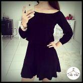 Vestido Preto – Elástico na cintura