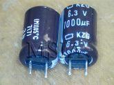 ELETROLÍTICO 1000X6,3 105º 8X13MM KZG 1000UFX6,3V