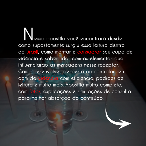 APOSTILAS COPO DE VIDÊNCIA I - HIDROMANCIA