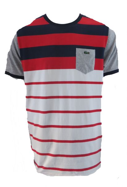 2ebdda34bec A Camiseta Lacoste Listrada - Brands Store SP Multimarcas