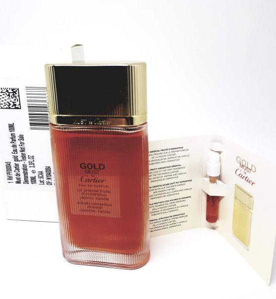 Tester Perfume Must de Cartier Gold  eau de parfum 100ml (TESTER)