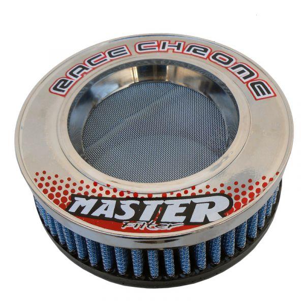 Filtro De Ar Duplo Fluxo Para Turbinas 100.0 Mm Race Chrome Azul - Cód. RR044