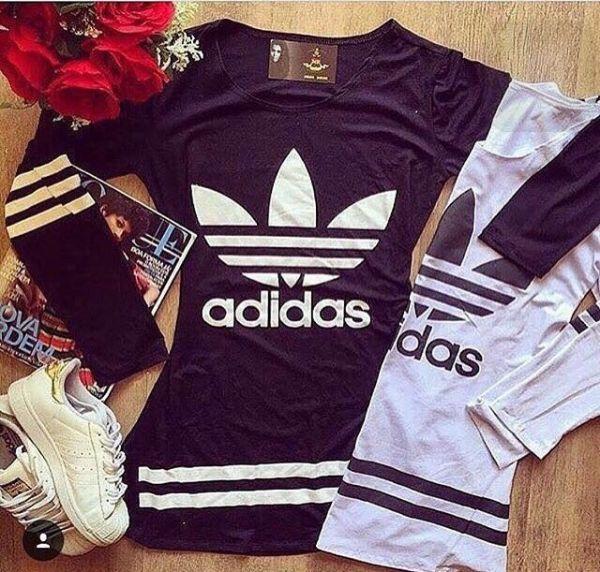 Vestido Moletom Adidas - PRETO - Produtos do Felix 35357593fd8