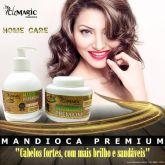 Kit Shampoo e Máscara de Mandioca Premium Fortificante Home Care
