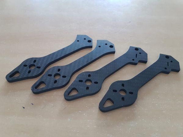 Conjunto de Braços do DH E5M em Fibra de Carbono 4.5mm  (02 Frontal &  02 Traseiro )