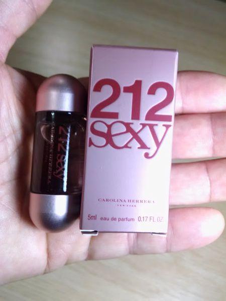 Miniatura Perfume 212 sexy 5 ml Carolina Herrera  Original