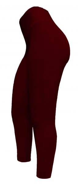 Legging vermelha (60/62) em crepe de malha, cintura alta,gramatura média